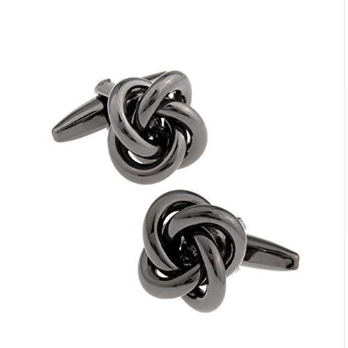 WYLCDGEOODesigner Black Manschettenknöpfe Preis Angebot Factory Anti-Oxidation Kupfer Metall Knot Design