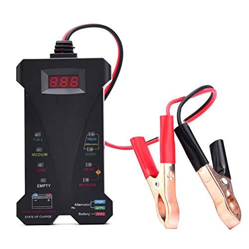 Zoloyo Multimetro Voltmetro Amperometro, 12V Digitale Batteria Tester Voltmetro LED Sistema di Ricarica Analizzatore con Clip per Auto Moto