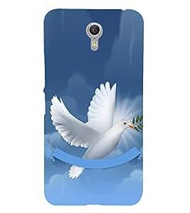 Fiobs Designer Back Case Cover for Lenovo ZUK Z1 (Flying Bird Art Theme White)