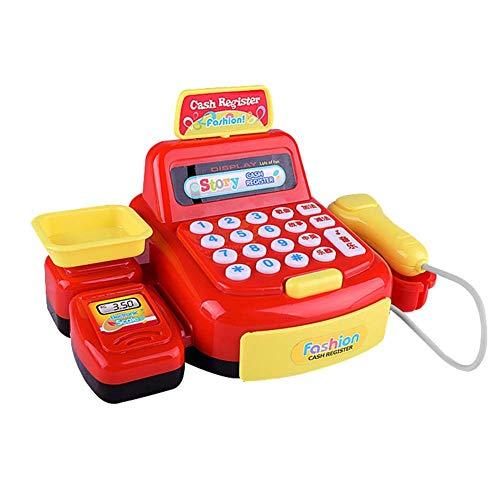RFJJAL Il supermercato Lavora al registratore di Cassa del Giocattolo con Il Suono per i Bambini dei Bambini (Colore : Rosso)