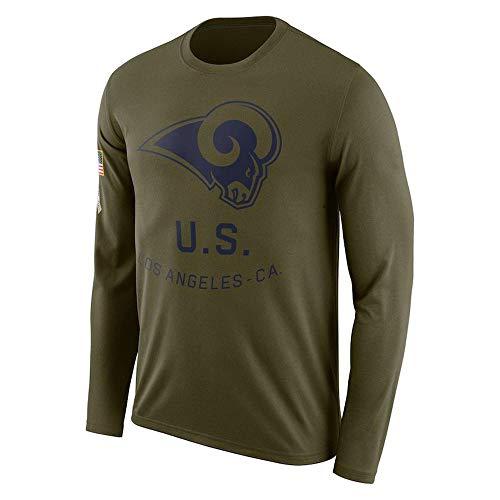 Basketball Fans Langarm-T-Shirt Patriots/Bär/Rams/Gangren Football Sport Leichtathletik Laufbekleidung X-XXXL
