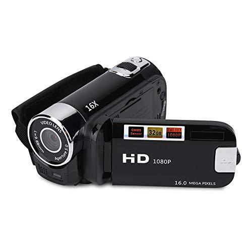 VBESTLIFE Full HD 270 ° Rotation 1080P 16X Haute Définition Numérique Caméscope Vidéo DV Caméra(Noir)
