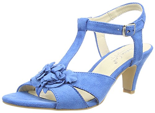 Andrea Conti1001558 - Sandali a Punta Aperta da donna, colore Blu  (Blau 058), taglia 37
