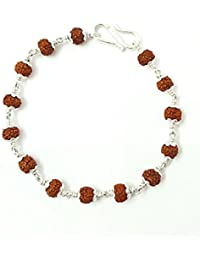 RAJAT ADORE Sterling-Silver Rudraksha Rakhi for Men