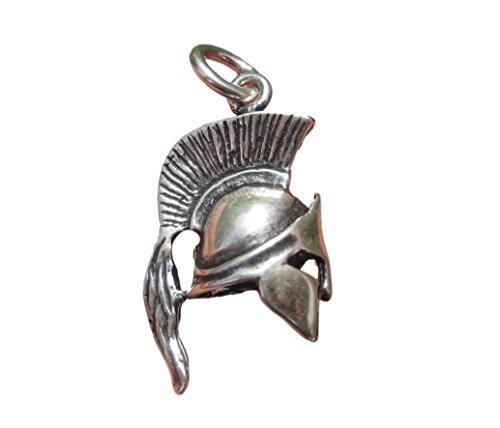 5Silber Alten Römischen Gladiator Griechisch Spartan Soldaten Helm Anhänger ()