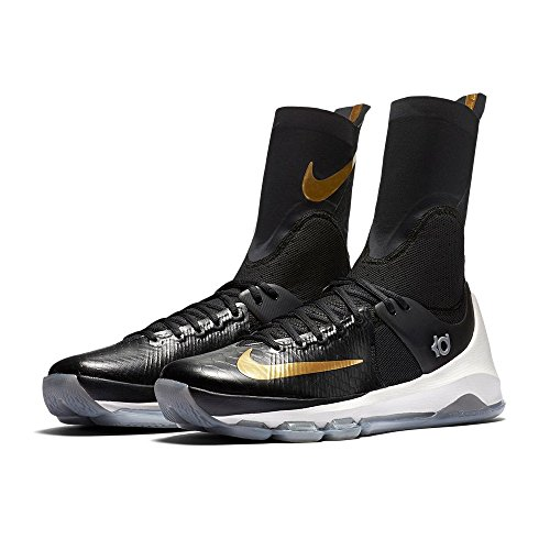 Nike Kd 8 Elite, Scarpe da Basket Uomo Nero (Negro (Black / Metallic Gold-Sail))