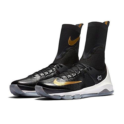 Nike Herren Kd 8 Elite Basketballschuhe, Black (Schwarz/Metallic Gold-Segel), 45 EU