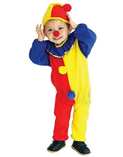 Pro Kostüm Clown - Inception Pro Infinite Größe S - 3 - 4 Jahre - Kostüm - Verkleidung - Karneval - Halloween - Clown - Zirkus - Gelb - Unisex - Kinder