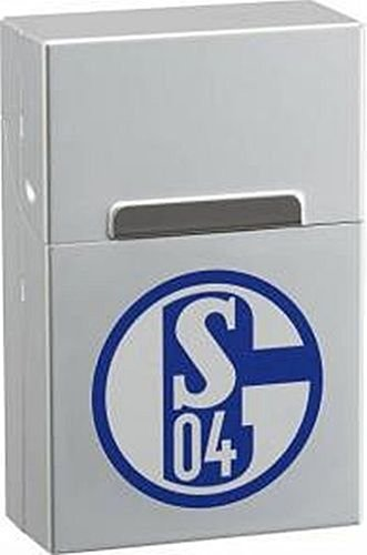 Alu Zigaretten Box chrom FC Schalke 04 - Bild 1