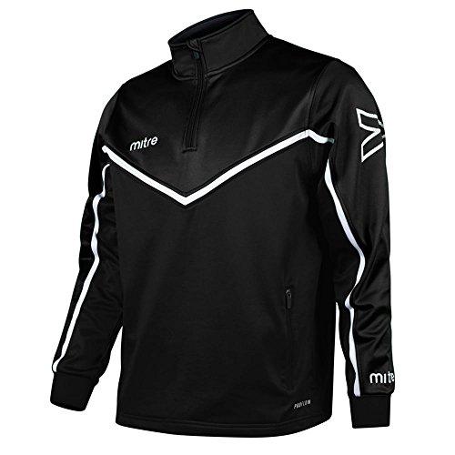 Mitre Men s Primero Quarter Zip Football Training Top  Black White  X-Large