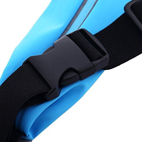 iProtect Sportarmband Apple iPhone 6, 6s (4,7 Zoll) Running Case Laufarmband drehbar in schwarz Hüftgürtel Neongelb IP6