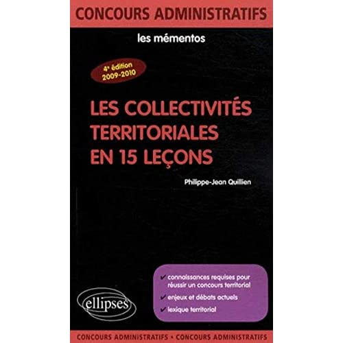 Collectivites Territoriales en 15 Lecons Quatrième Edition