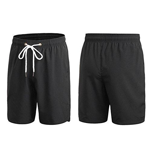 Butterme Männer Lässige coole kurze lose kurze Hose Hosen Strand Hosen Kurze Sport Schwarz