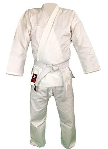 Budodrake Karateanzug Bushido weiß 8oz Karate Gi (140)