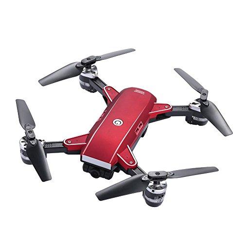 Fenghong Cámara Drone, YH-19 2.4GHz 4 Canales FPV WiFi 2.0MP Cámara 3D Flips Hover Altitude Hold Fotografía aérea Control Remoto Quadcopter Aviones helicóptero (Rojo)