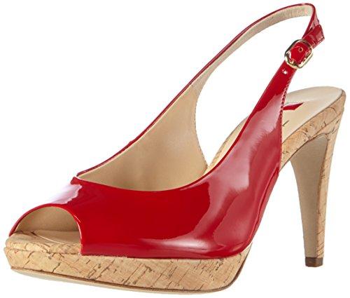HÖGL - 1- 10 8709, Scarpe col tacco con cinturino a T Donna Rosso (Rosso (4000))