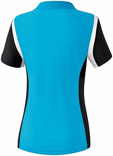 erima Damen Poloshirt Razor 2.0 Curacao/Schwarz/Weiß