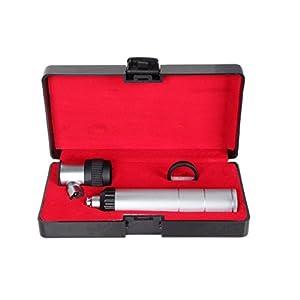 MKC®-Dermatoskop Dermatologie Haut Diagnose Black & Silver Dermatoskop set.10x Vergrößerung