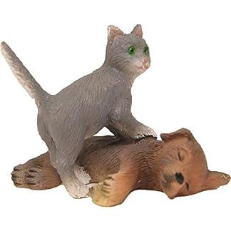 Dekop Belén Accesorios Gato con Perro, Adecuado para Figuras de 10–13cm, Altura Aprox. 3,1cm (44635097368)