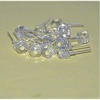 30pcs 5mm Light UV White Straw Hat Wide Angle UltraWhite 395nm - 400nm Transparent 5 mm Light-Emitting Diode LED Lamp