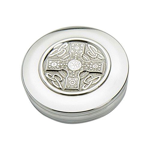 Edwin Flasque & Co Boîte à Bijoux Design Croix Celtique, 90 mm x 25 mm, en étain