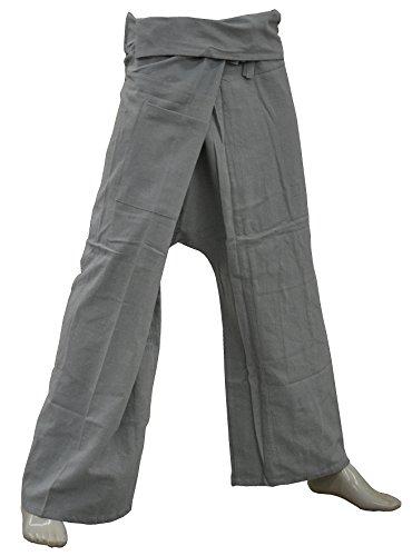 Thai410® - Wellnesshose - 100% Baumwolle - Grau - Yogahose Fischerhose