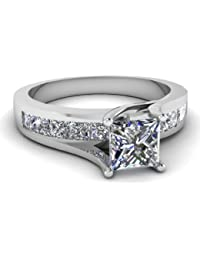 81712fa0f RM Jewellers 92.5 Sterling Silver American Diamond Princess Glorious Ring  for Women