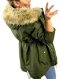 VICGREY ❤ Moda Cappotto Donna Cappuccio Taglie Forti Invernale Elegante Caldo  Cappotti Eleganti Parka Lunghi Giacca 375db3faeb2