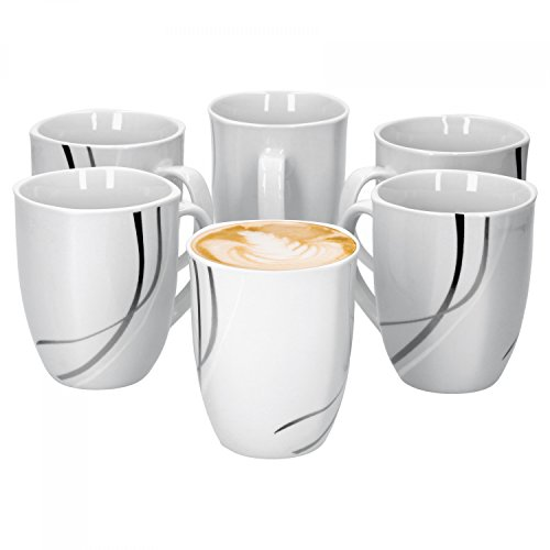 6er Set Kaffeebecher Silver Night 37cl