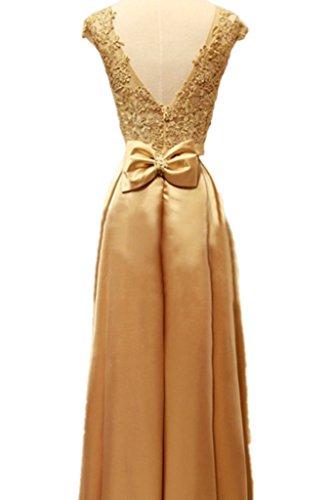 Drasawee Damen A-Linie Kleid Gold - Gold
