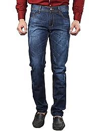 JUGEND Light Green Washed Non-Stretchable Regular Fit Jeans for Men