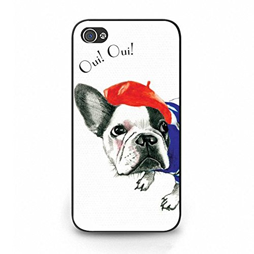 Iphone 4/4s French Bulldog Shell Cover,Cute Creative French Bulldog Phone Case Cover for Iphone 4/4s French Bulldog Fresh Art Color113d