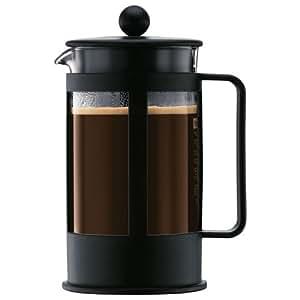 Bodum - 1788-01 - Kenya Cafetière à Piston 8 Tasses - 1,0 L - Noire