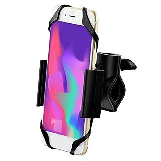 Handyhalterung Fahrrad mit Metall-Sockel, Ipow Universal Anti-Shake Fahrrad Motorrad Handyhalter Halterung Mit 360 Drehen für Fast Allen Smartphone wie iPhone Samsung Huawei und Andere Geräte