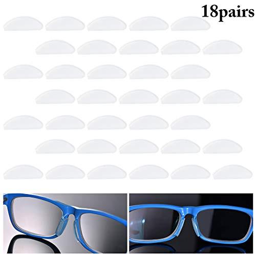 Fansport 18 Pairs Brillen Nasenpad Rutschfeste Nasenpads Aus Silikon