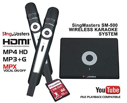 SingMasters Magic Sing ARABIC Karaoke-Spieler, 843 arabische Songs, Dual kabellose Mikrofone, Youtube kompatibel, HDMI, Songaufnahme, arabische Karaoke-Maschine - Der Nächsten Generation Hdmi