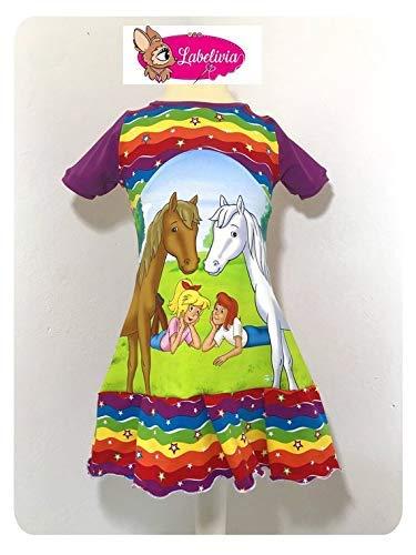 Rainbow Kostüm Girl - Rüschenkleid Bibi und Tina rainbow