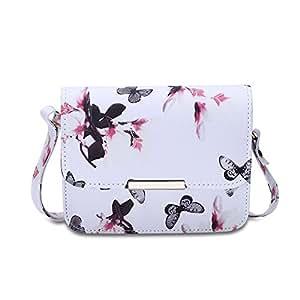 Faysting EU donna borsa borsa a tracolla elegante stile fiore figura vari colori fondo con clamshell forma buon regalo per viaggio scuola festa