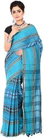 TANTUJA BENGAL HANDLOOM Women's Tant Cotton Saree(011H8B9627/NS 04_B