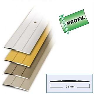 Bodenprofil Übergangsprofil 100 x 3,8 cm Alu Edelstahl Optik