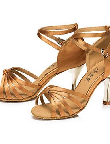La mode moderne Sandales femmes personnalisables Chaussures de danse latine Chaussures de Satin satin Talon Noir Intérieur/Extérieur/Autres US6.5-7/EU37/UK4.5-5/CN37