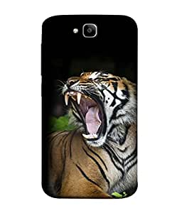 PrintVisa Designer Back Case Cover for Huawei Honor Holly 2 Plus :: Huawei Honor 2 Plus (WildLife Beast Cat Lion Leopard Panther )