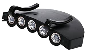 LAMPE POUR CASQUETTE HQ / LEDs : 5 / Couleur Torche: Noir / Size: 83 x 60 x 25 mm