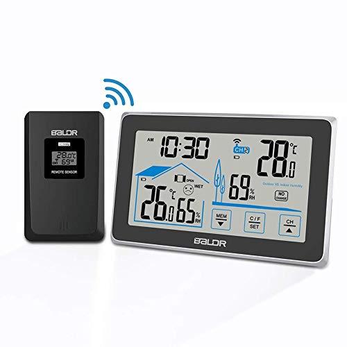Digital Estación Meteorológica Termómetro, Higrómetro Inalámbrico Sensor De Humedad De Temperatura...