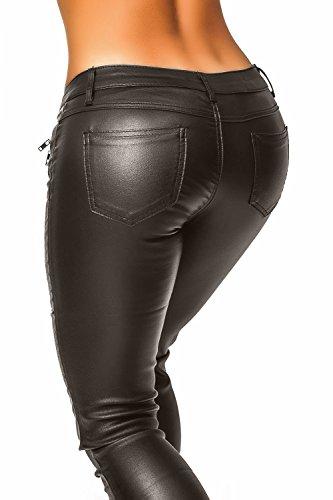 Damen Kunstlederhose (339) Dunkelbraun