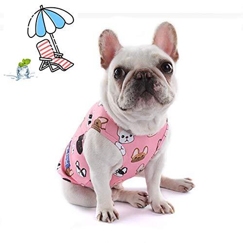KT Mall Kühlung kühlen Sommer Hund Weste Mantel, Outdoor atmungsaktiv Anti-Hitze Jacke Kleidung, Hochleistungs-Kühlweste für Hunde,Pink,M (Service-hund Mantel)