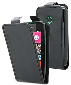 Etui Nokia Lumia 530 - Housse ultra fine noire avec coque de protection intégrée pour Nokia Lumia 530