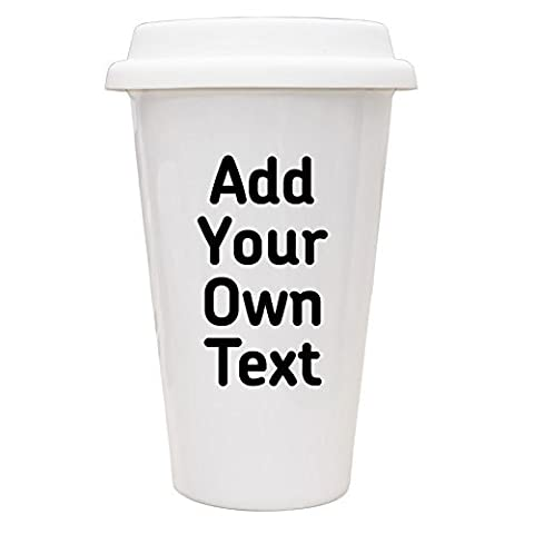 Personalised Add Your Own Text Eco Mug unique gift idea