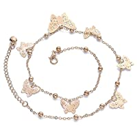 Lovely Gold Filled Adjustable Butterfly Chain Bracelet Foot Chain