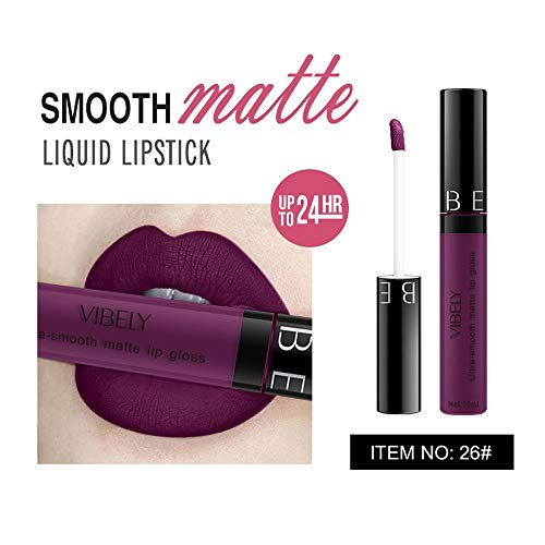 Dtuta Lippenstifte, Frau Wasserdicht Lippglosse Matte Lippenglasur Multi-Color-Antihaft-Becher Einfach Zu FäRben DüNn Und Leicht